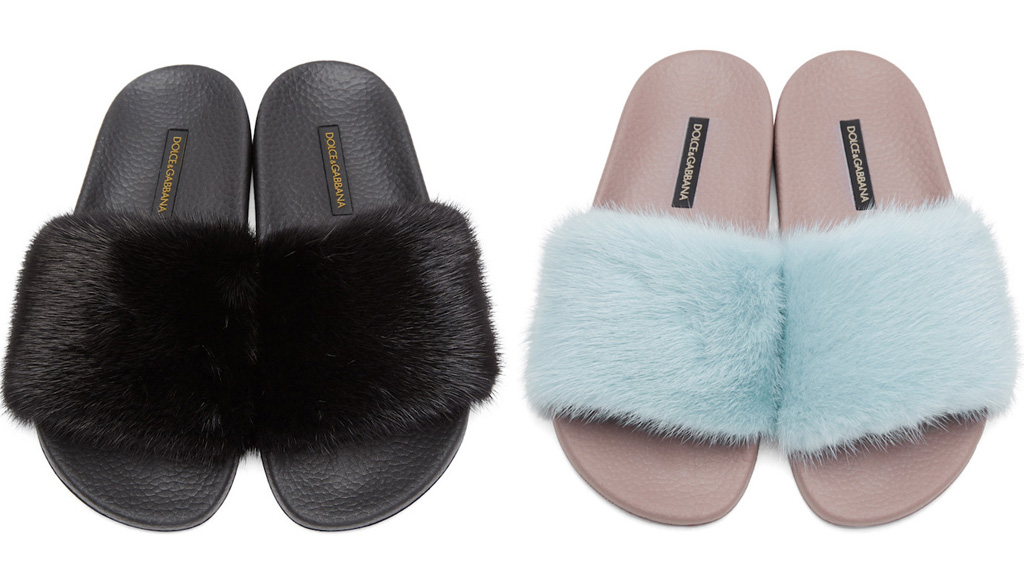 Dolce & Gabbana Dolce & Gabbana Fur Slides Low Shipping Online Collections For Sale Free Shipping Pre Order Authentic Cheap Online Discount Deals An2lOk