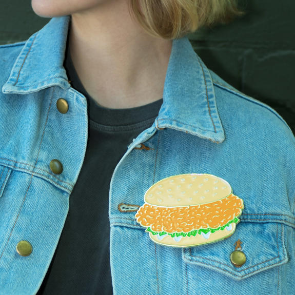 zinger burger pin