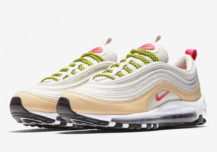the latest c2c3f 16f3e nike-air-max-97-white-tan-pink-neon-