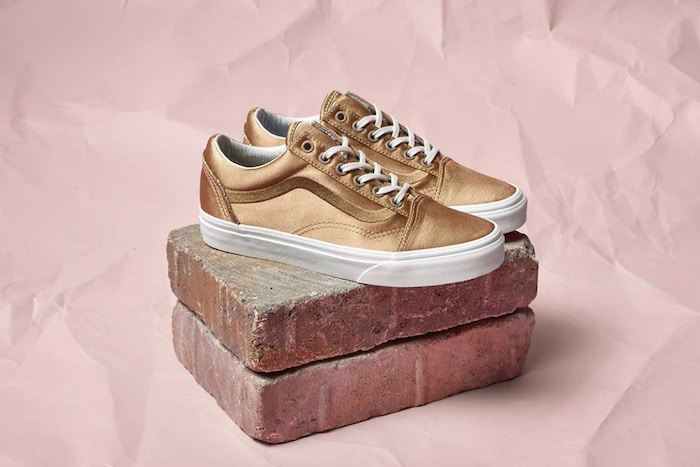 2df84372235c Vans has also given its classic Old Skool and Sk8-Hi delicate satin  makeovers as well