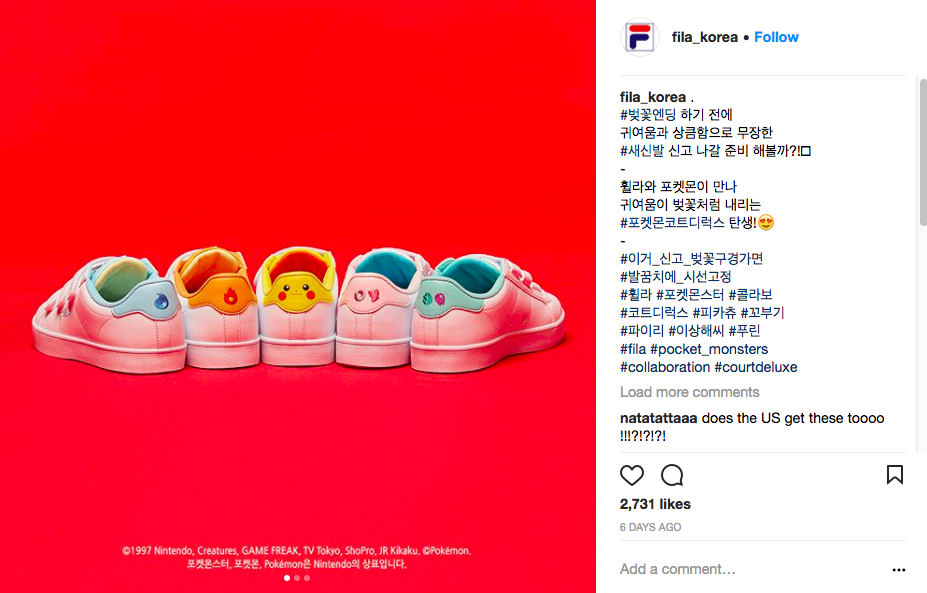 0e9fa3a6ba37 Pokemon x Fila Sneakers Launching In Korea - NYLON SINGAPORE
